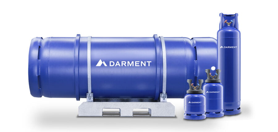 Darment refrigerant cylinders